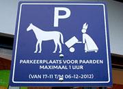 parkeerplaats voor sinterklaas